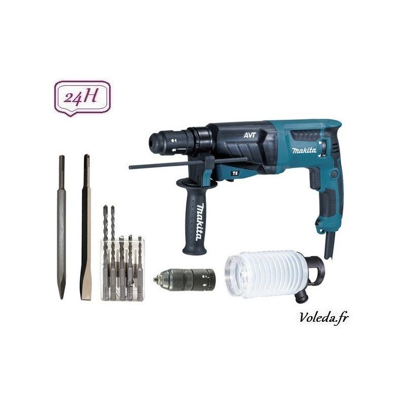 Perforateur burineur Makita SDS Plus 800 W - Makita HR2631FTX4