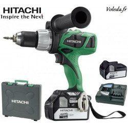 Perceuse visseuse à percussion Hitachi DV18DBL 4A - 18 V 4 Ah Li-ion