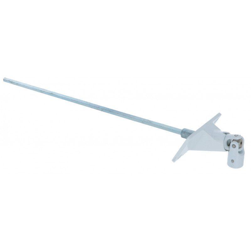 Sortie de caisson volet roulant 90° Blanche - Hexa 7 - 80x48 - 320mm - 7845.70.38B