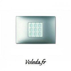 Plaque murale Nice Opla rectangulaire Vert d'eau - emetteur NiceWay