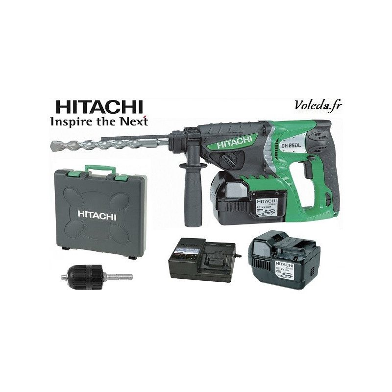 Perforateur SDS plus Hitachi DH25DL - 25,2 V 3 Ah Li-ion