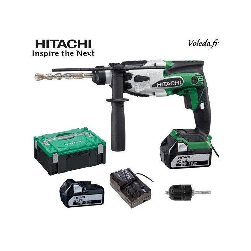 Perforateur SDS plus Hitachi DH18DSL 5A - 18 V 5 Ah Li-ion