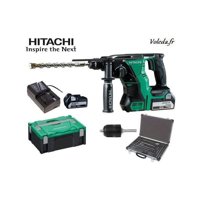 Perforateur burineur SDS plus Hitachi DH18DBL 5A - 18 V 5 Ah Li-ion