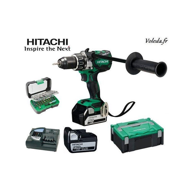 Perceuse visseuse Hitachi DS14DBL2 5A - 14,4 V 5 Ah Li-ion