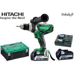 Perceuse visseuse Hitachi DS18DSDL 5A - 18 V  5 Ah  Li-ion
