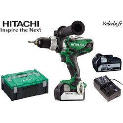 Perceuse visseuse à percussion Hitachi DV18DSDL 5A - 18 V 5 Ah Li-ion