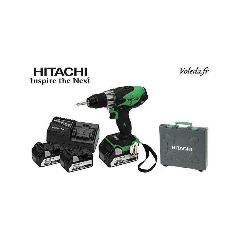 Perceuse visseuse Hitachi DS18DSL5AX3 - 18 V  5 Ah  Li-ion