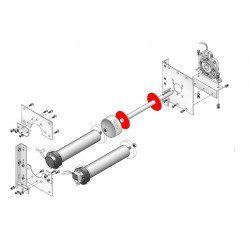 Rondelle acier pour moteur Simu T8 et T9 Ø 93 mm