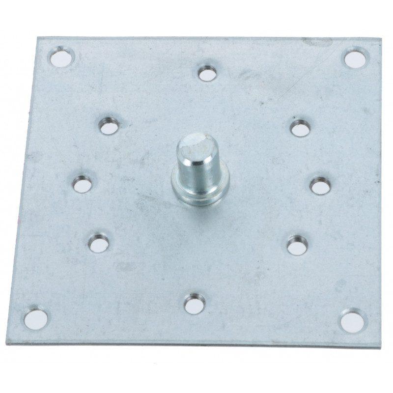 Support plaque cote oppose 100 x 100 avec pion de 12 mm