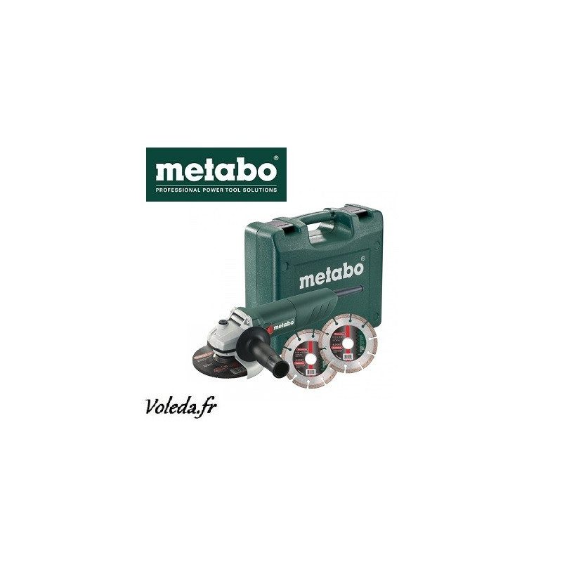 Meuleuse disqueuse Metabo W 850-125 Set