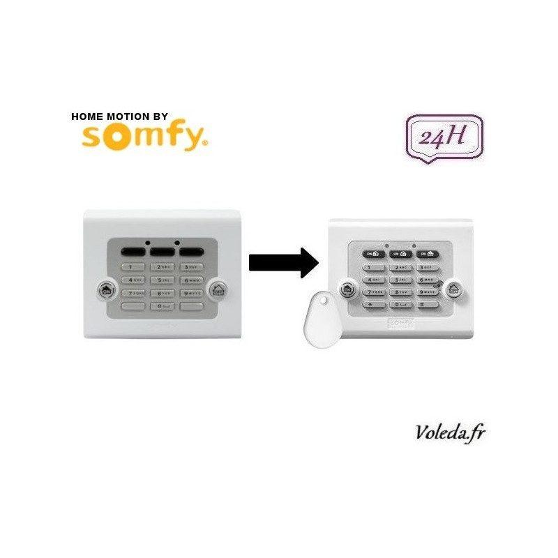 Clavier de commande Somfy avec badge