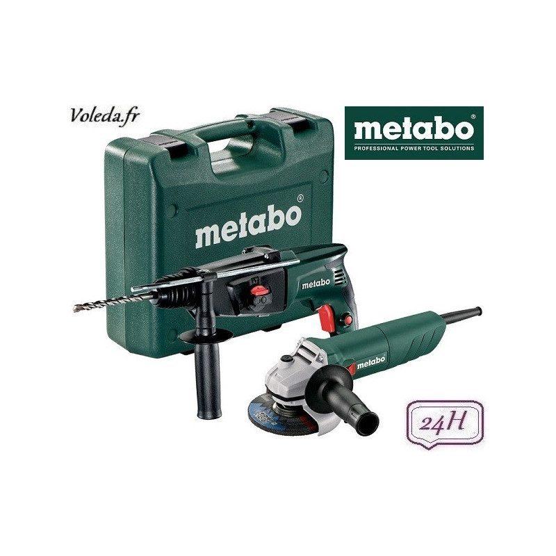 Lot perforateur burineur et meuleuse disqueuse Metabo