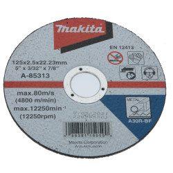 Disque Makita 125 mm a tronçonner - A-85313