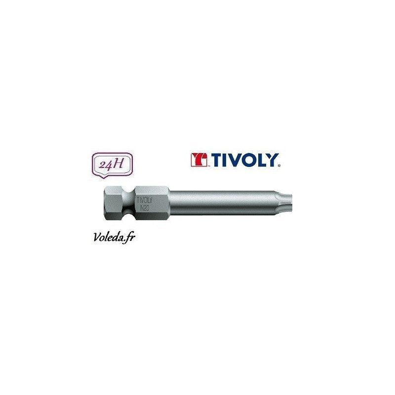 Embout de vissage Tivoly Torsion Torx 50mm N25