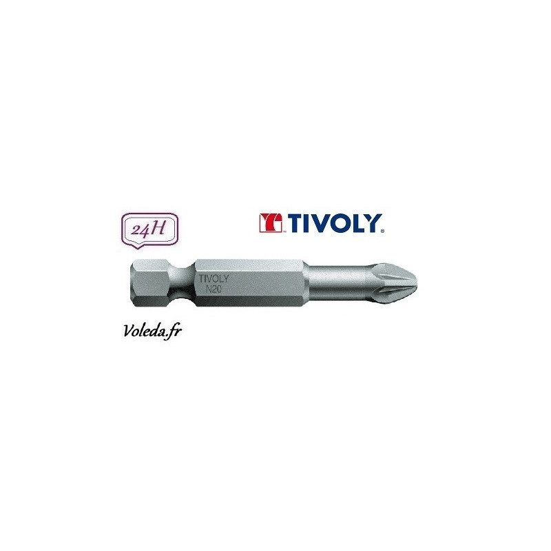 Embout de vissage Tivoly Torsion Pozidriv 50mm N2