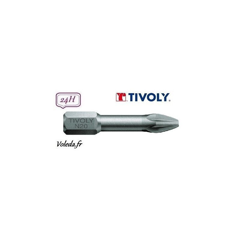 Embout de vissage Tivoly Torsion Philips 25mm N2 x10
