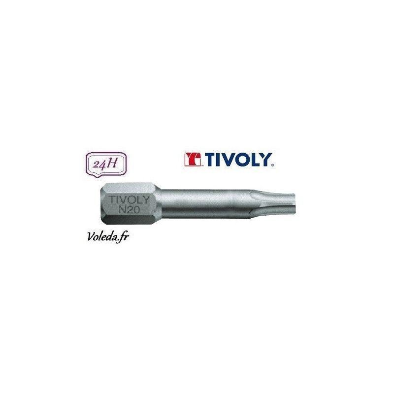 Embout de vissage Tivoly Torsion Torx 25mm N20 x10