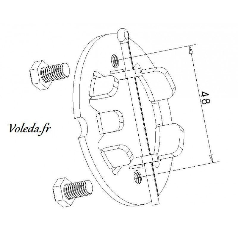 Support moteur volet roulant Deprat Electronique