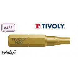Embout de vissage Tivoly Extra dur torsion Torx 25mm N15