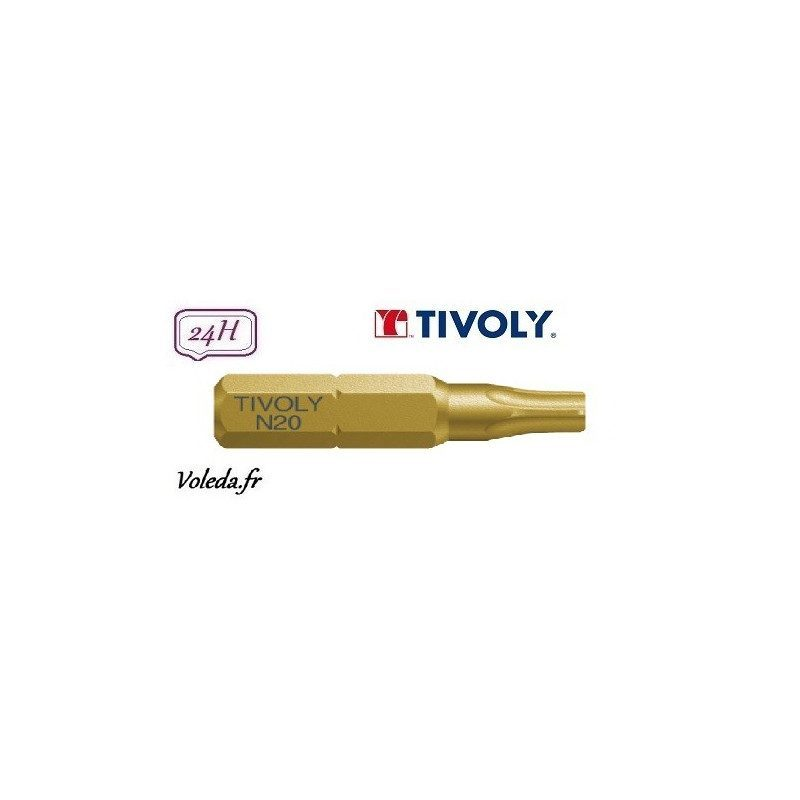 Embout de vissage Tivoly Extra dur torsion Torx 25mm N25