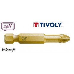 Embout de vissage Tivoly Extra dur torsion Pozidriv 50mm N1-2-3
