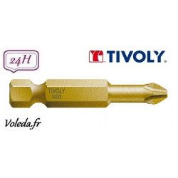Embout de vissage Tivoly Extra dur torsion Philips 50mm N1-2-3