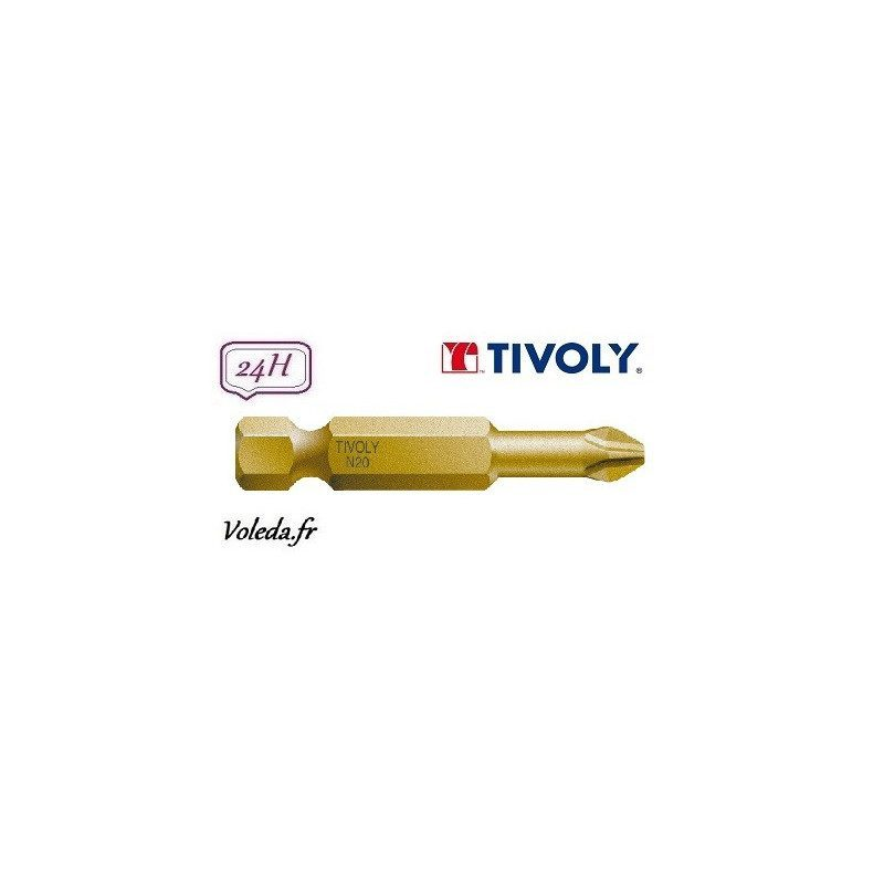 Embout de vissage Tivoly Extra dur torsion Philips 50mm N2