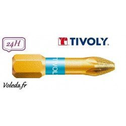 Embout de vissage Tivoly Diamant bi-torsion Pozidriv 25mm N2