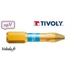 Embout de vissage Tivoly Diamant bi-torsion Philips 25mm N1-2-3