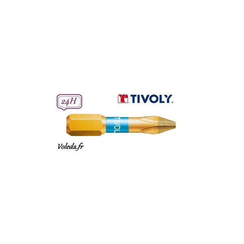 Embout de vissage Tivoly Diamant bi-torsion Philips 25mm N2