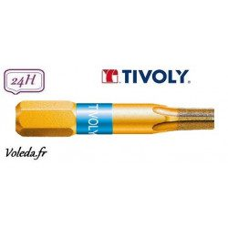 Embout de vissage Tivoly Diamant bi-torsion Torx 25mm N10