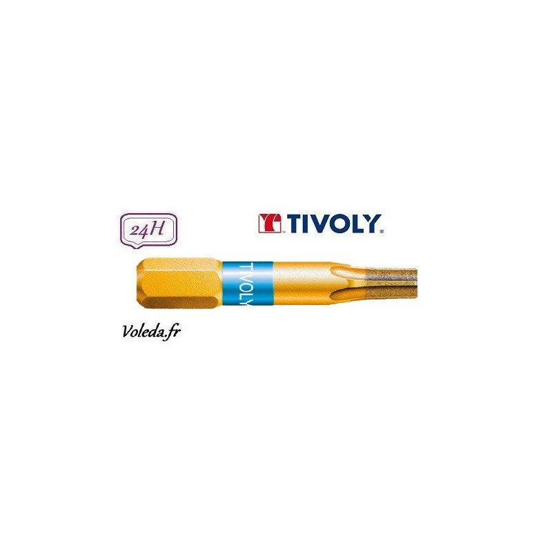 Embout de vissage Tivoly Diamant bi-torsion Torx 25mm N15