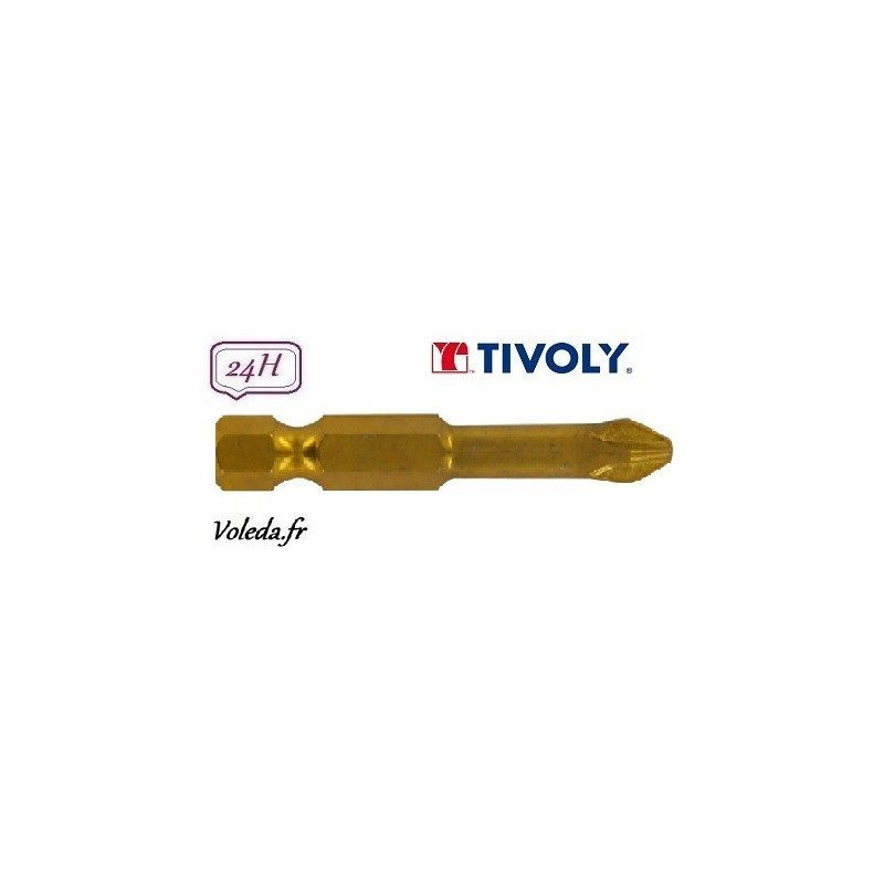 Embout de vissage Tivoly Diamant bi-torsion Philips 50mm N1-2-3