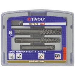 Coffret 6 pieces d'extraction de goujons et de vis Tivoly Technic