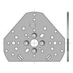 Plaque universelle LS 40 Somfy - Accessoire moteurs Ø 40