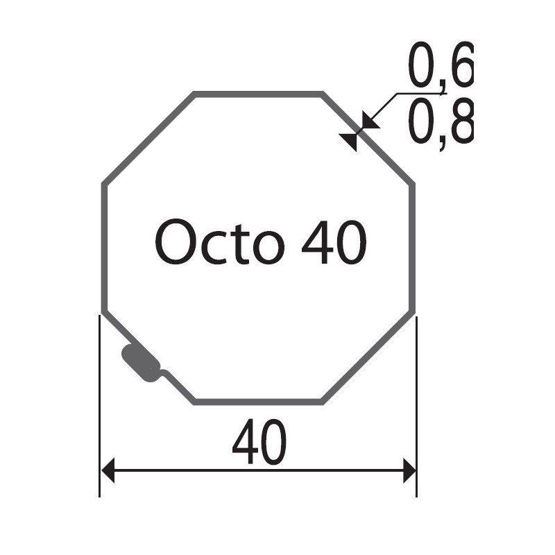 Bagues moteur volet roulant Gaposa XQ40 - Octogonal 40