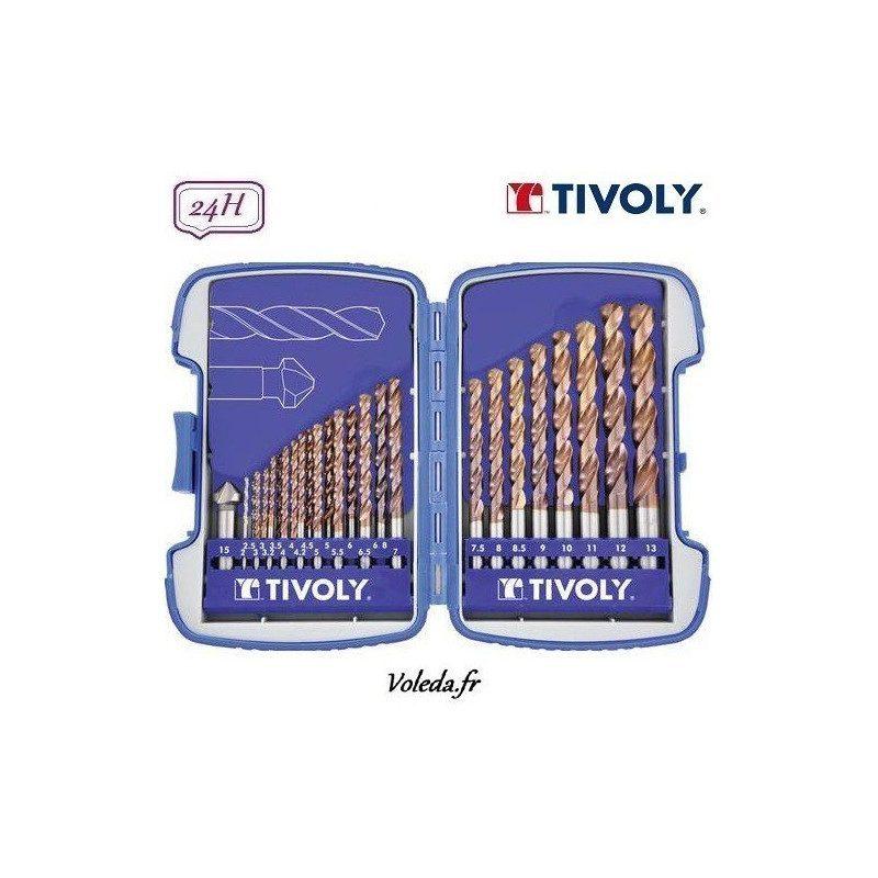 25 pièces Tivoly - Forets à métaux HSS furius Bumper