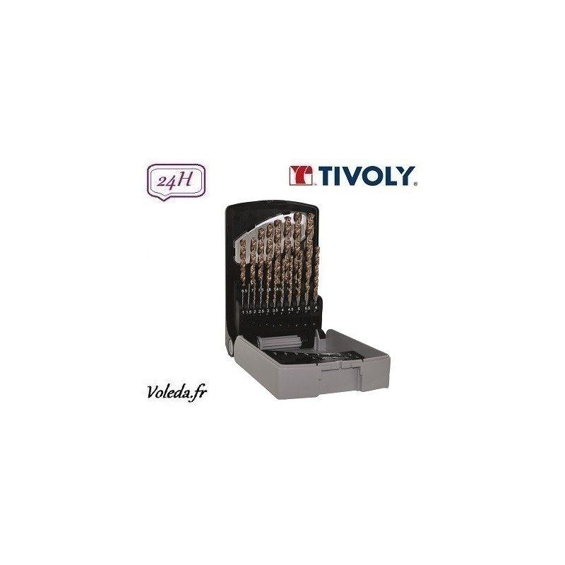 19 Forets à métaux Rectif HSS Tivoly