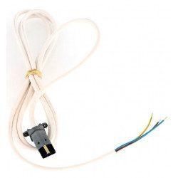 Cable moteur Simu radio 50 60 VVF Blanc 2.5 m