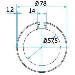 Bagues moteur volet roulant Cherubini - Ogive 78 plate