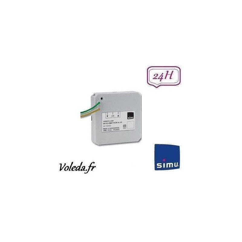 Micro Emetteur Simu Hz pour volet roulant VR