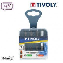 7 pièces Tivoly - 6 embouts de vissage + 1 porte embout