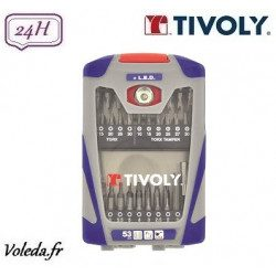 53 embouts de vissage Tivoly + LED