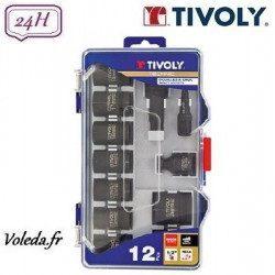 12 pièces douilles à choc Tivoly