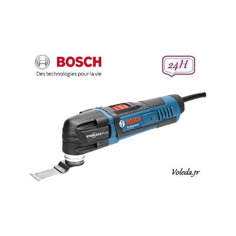 Découpeur ponceur Bosch GOP 30-28 + coffret 3 accessoires