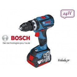 Perceuse visseuse à percussion Bosch connectée GSB 18V-60 C 2 x 5Ah