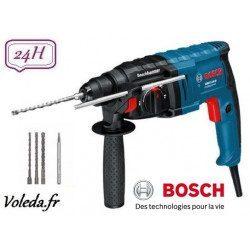 Perforateur burineur Bosch SDS-Plus GBH 2-20 D + coffret 4 accessoires