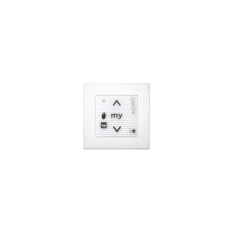 Emetteur mural Somfy Smoove RS100 io - Blanc + cadre