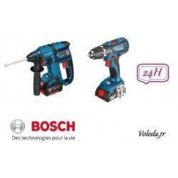 Pack Bosch perforateur burineur GBH 18 V-EC et perceuse visseuse GSR 18-2-LI Plus
