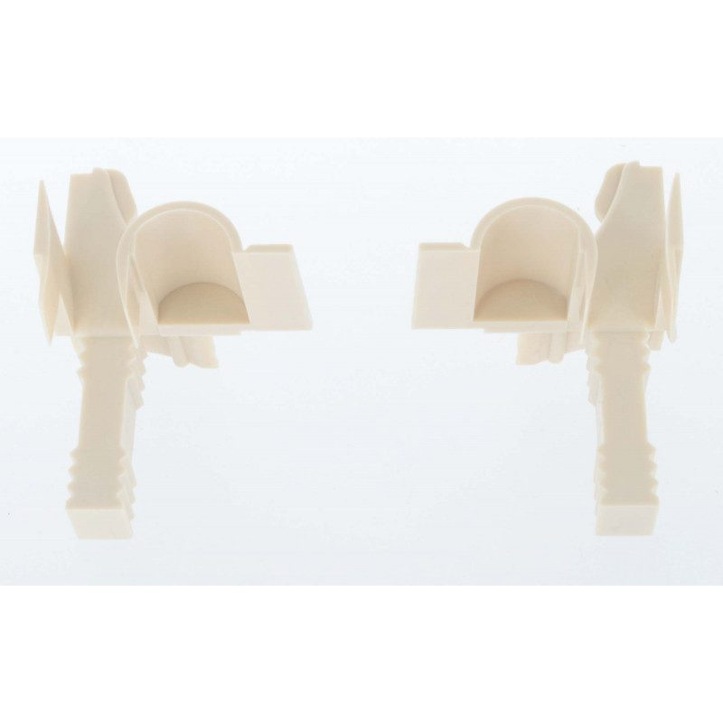Tulipe volet roulant - Flasque 45° 125 a 205 mm - Lame 9 mm - Beige